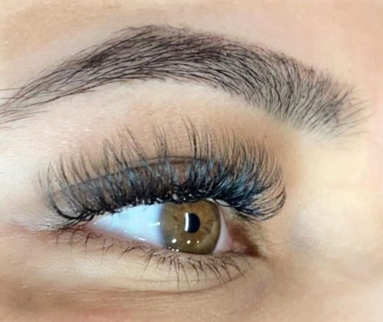 volume natural full set of lash extensions by The Lash Lounge