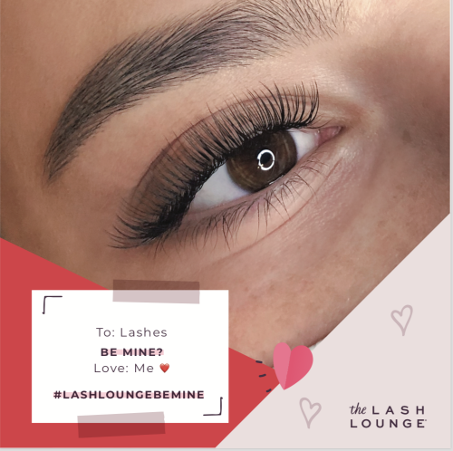 close-up of a woman's eye with eyelash extensions from The Lash Lounge