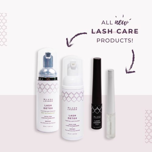 Lash Care retail line featuring 4 products from The Lash Lounge