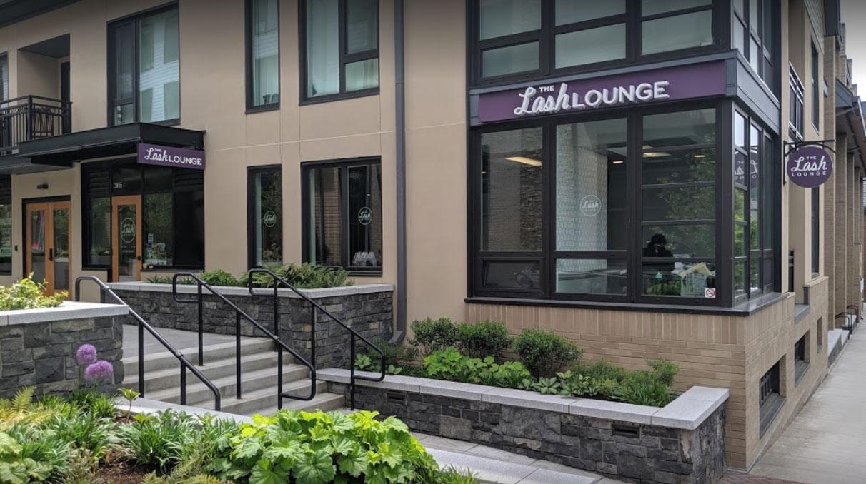 The Lash Lougne outside of salon