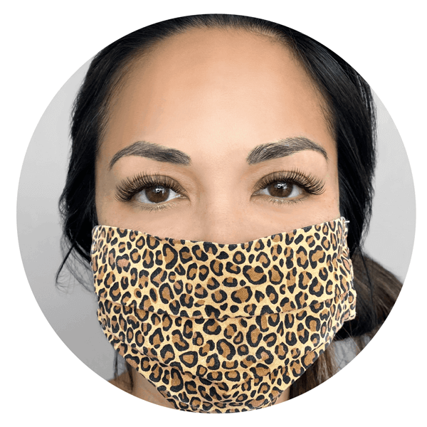 The Lash Lounge Customer With Mask