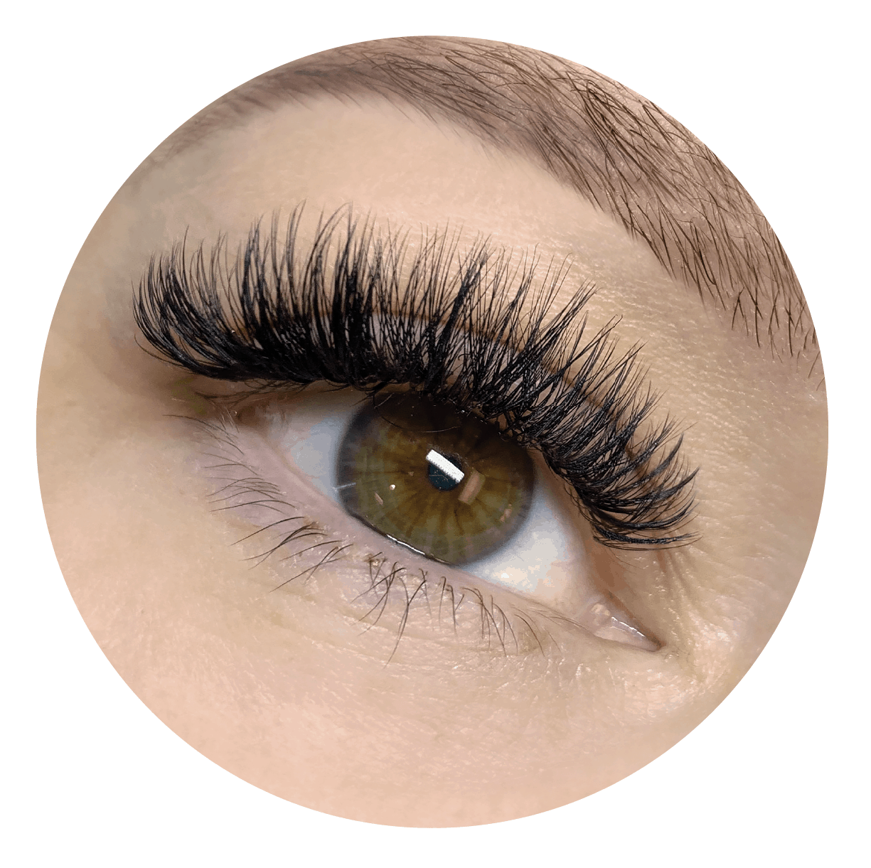 Close Up of Eyelash Extensions