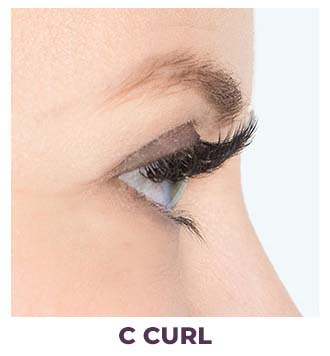 eyelash installation c curl