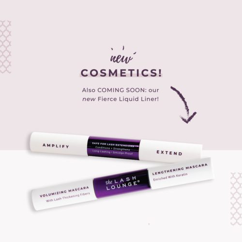 Cosmetics retail line featuring new mascara and from The Lash Lounge