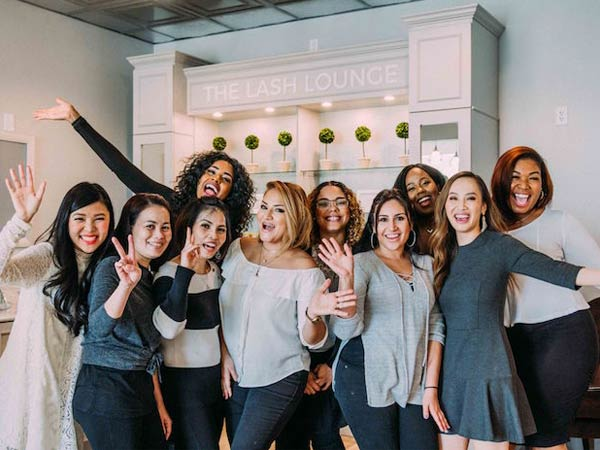 the lash lounge team from the lash lounge Plano