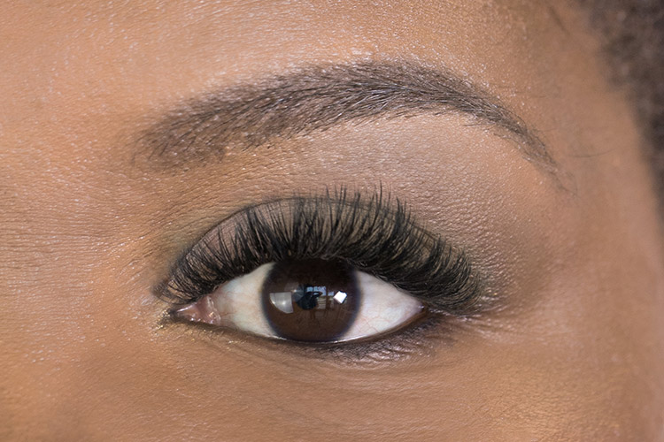 volume eyelash extensions after