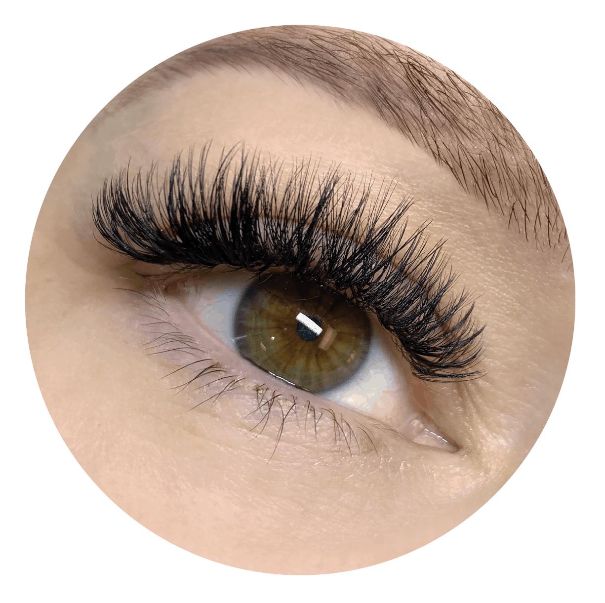 Close Up of Eyelash Extensions