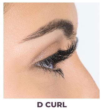 eyelash installation d curl
