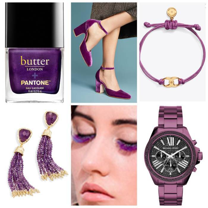 pantone color of the year featuring items in ultra violet