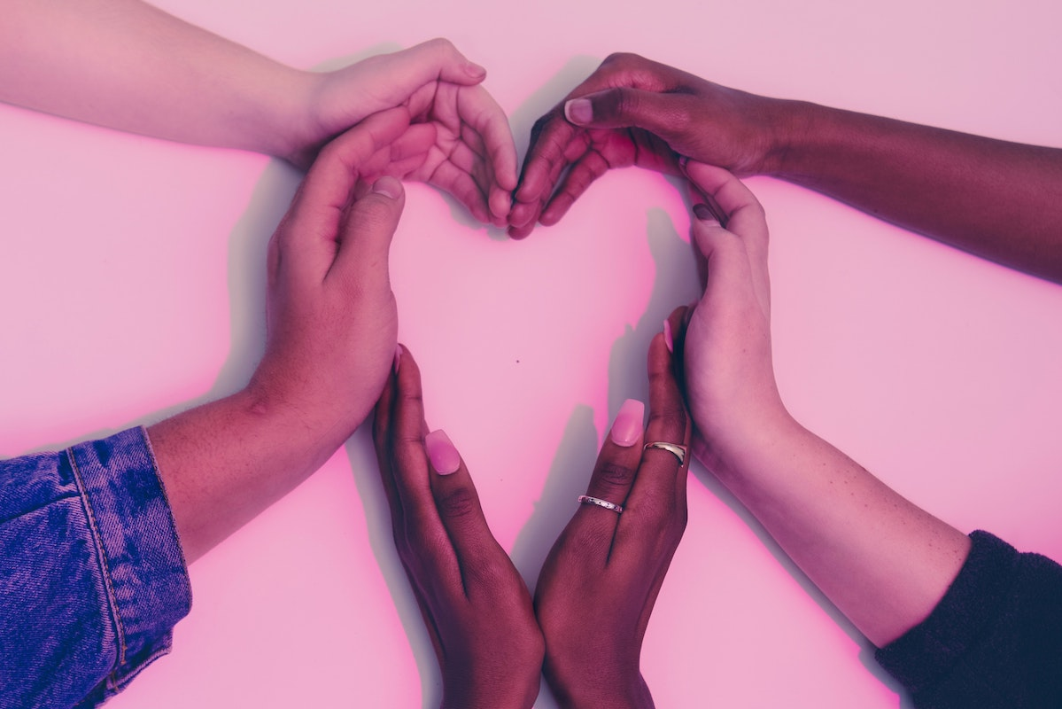 Hand heart for American Heart Month
