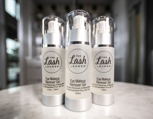 The Lash Lounge Eye Makeup Remover Gel to clean your lash extensions and make them last longer