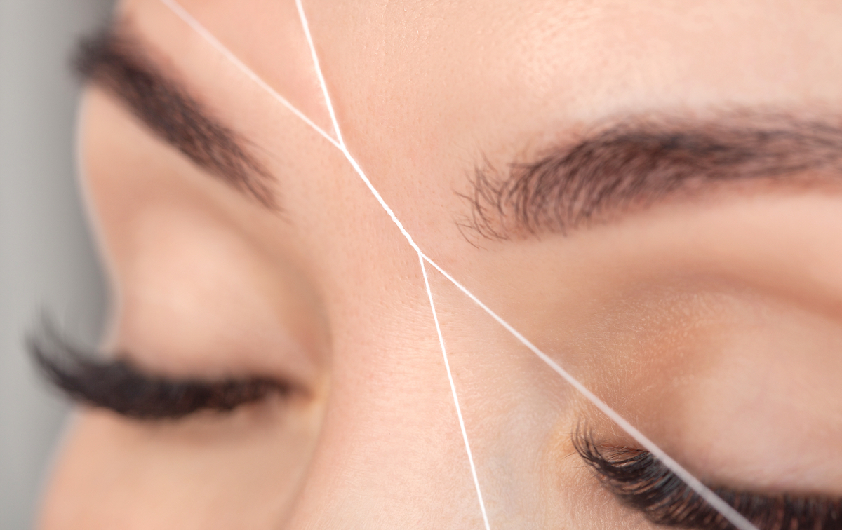 eyebrow threading at The Lash Lounge