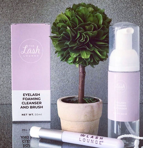 foaming lash cleanser from The Lash Lounge