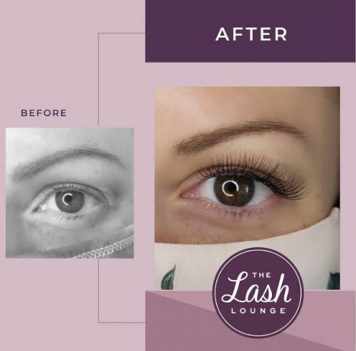 classic full set of eyelash extensions before and after