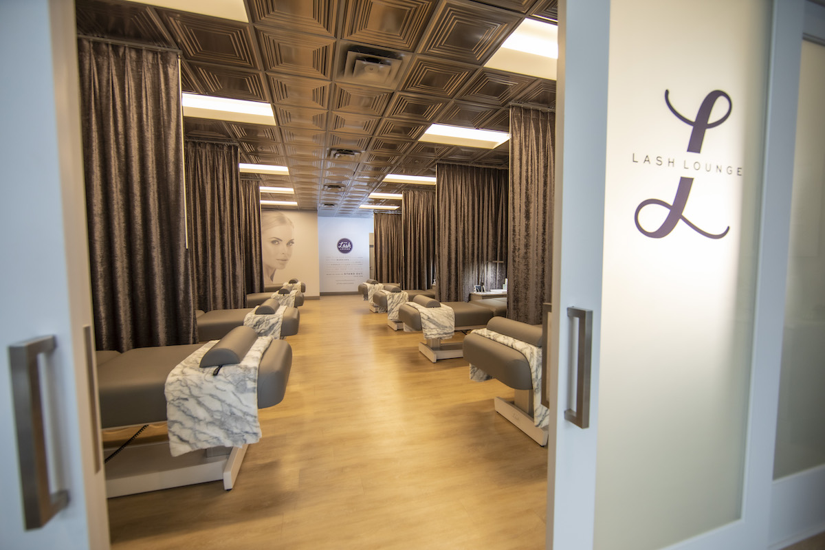 The Lash Lounge service room for guests during lash extension and brow appointments