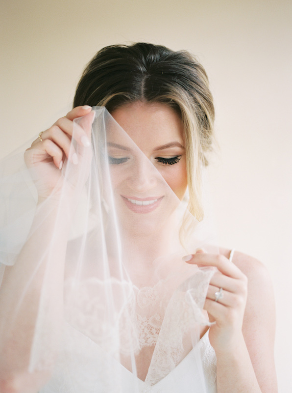 close-up of bride with lash extensions from The Lash Lounge