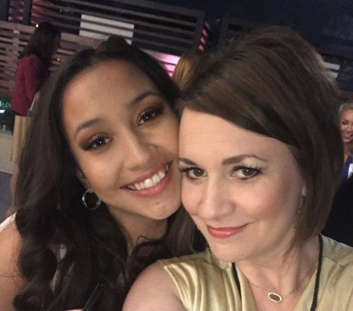 mother and daughter taking a selfie to show their lash extensions