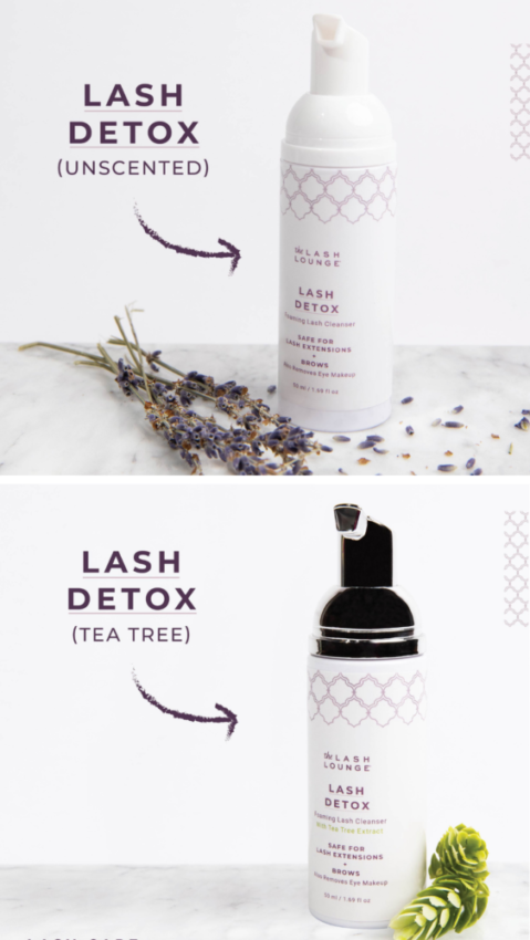 Two Foaming Lash Cleanser products from The Lash Lounge