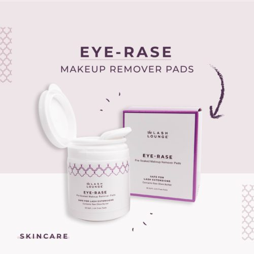 Eye-Rase makeup remover pads skincare product from The Lash Lounge